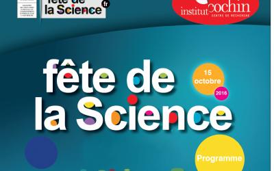 Fête de la Science 2016 à l'Institut Cochin